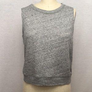 Madewell sleeveless sweatshirt- M